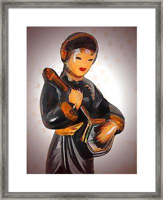 Asian Beauty Minstrel Framed Print by Kathy Clark