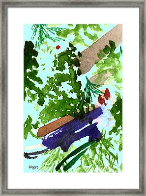 Framed Print featuring the painting Asian Garden  by Paula Ayers