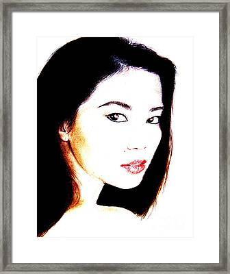Asian Model  Framed Print by Jim Fitzpatrick