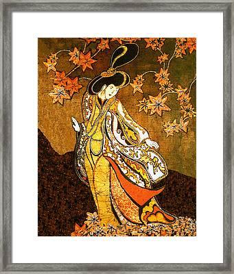 Asian Woman Framed Print by Alexandra  Sanders