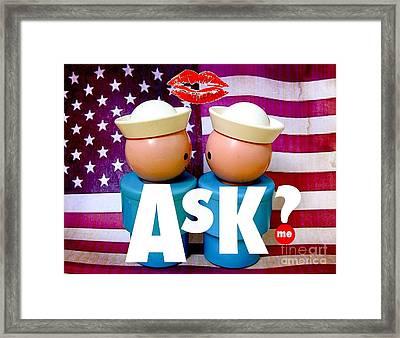 Ask Me Framed Print by Ricky Sencion