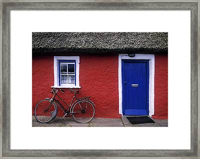 Askeaton, Co Limerick, Ireland, Bicycle Framed Print by The Irish Image Collection