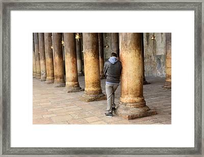 Asking For Forgiveness Framed Print by Munir Alawi