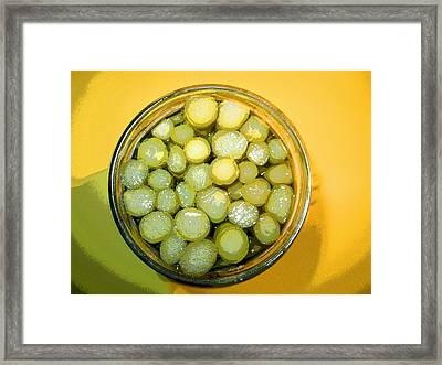 Asparagus In A Jar Framed Print by Kym Backland