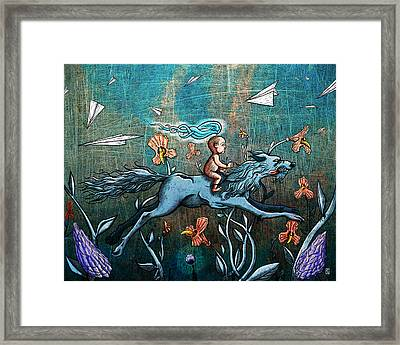 Aspect Of Youth Framed Print by Baird Hoffmire