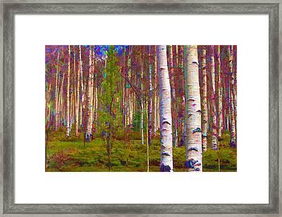 Framed Print featuring the digital art Aspen Dawn I by Brian Davis