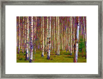 Framed Print featuring the digital art Aspen Dawn IIi by Brian Davis