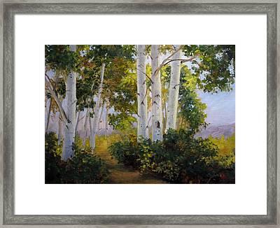 Aspen Grove Framed Print by Victoria  Broyles