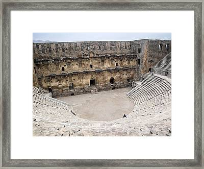 Aspendos Roman Theatre Framed Print by