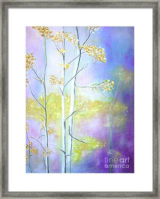 Framed Print featuring the painting Aspens  by Barbara Anna Knauf