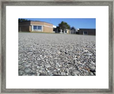 Asphalt Framed Print by Wes Allen