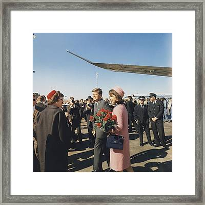 Assassination Of President Kennedy Framed Print by Everett