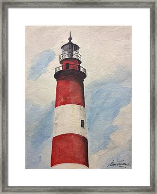 Assateague Lighthouse  Framed Print by Stan Tenney