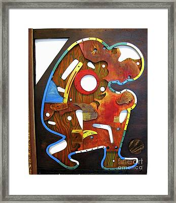 Assemblage Painting A Framed Print