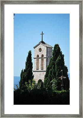 Framed Print featuring the photograph Assisi Crosses by Amee Cave
