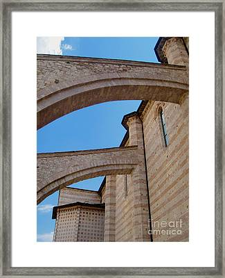 Assisi Italy - Basilica Of Santa Chiara Framed Print by Gregory Dyer