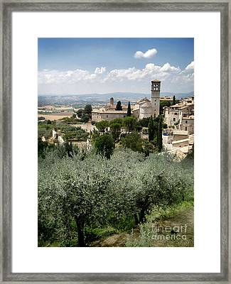 Assisi Italy - Bella Vista - 02 Framed Print by Gregory Dyer