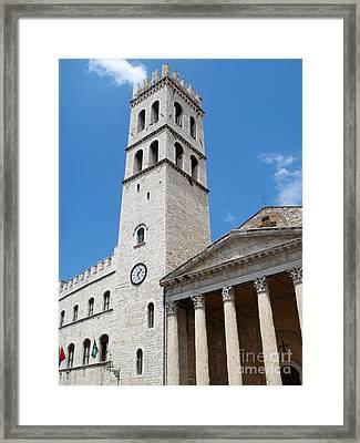 Assisi Italy - Santa Maria Sopra Minerva Framed Print by Gregory Dyer