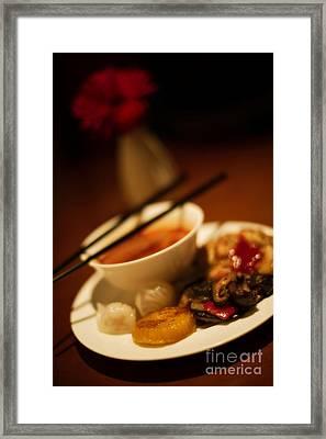 Assorted Appetizers Framed Print by Venetta Archer