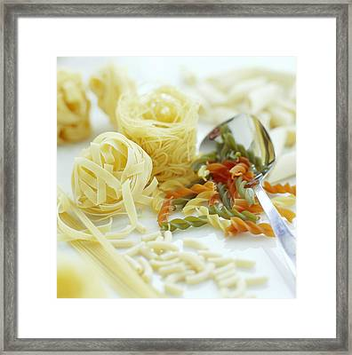 Assorted Pasta Framed Print by David Munns