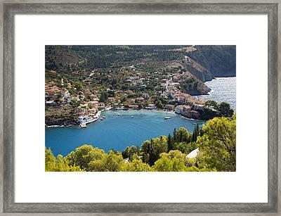 Assos Harbor In Greece Framed Print