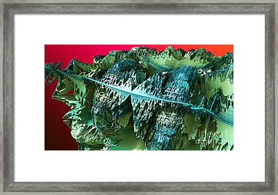 Asteroid Colony Framed Print by Ron Bissett