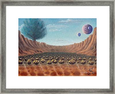 Asteroid Field From Arboregal Framed Print