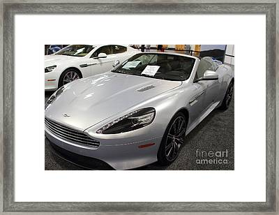 Aston Martin Virage Convertible . 7d9626 Framed Print by Wingsdomain Art and Photography