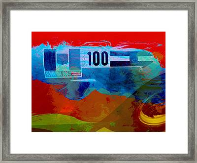 Aston Martin Watercolor Framed Print by Naxart Studio
