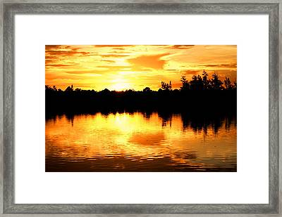 Astonishing Sunset Framed Print by Luis and Paula Lopez