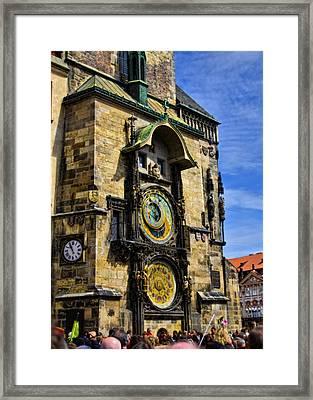 Astonomical Clock    Prague Old Town Framed Print by Jon Berghoff