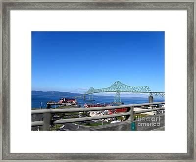 Astoria Bridge Framed Print by Tanya  Searcy