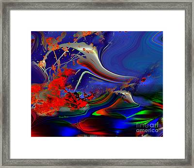 Astral Duck Framed Print by Doris Wood