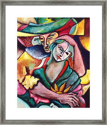 Astral Romance Framed Print by William Sosa