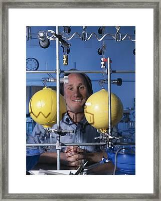 Astrochemistry Researcher Framed Print by Volker Steger