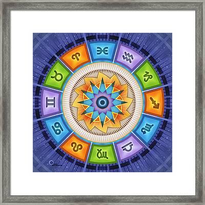 Astrodala - Zodiak Reflections Framed Print by Soul Structures