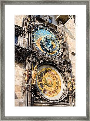 Astronomical Clock In Prague Framed Print by Artur Bogacki