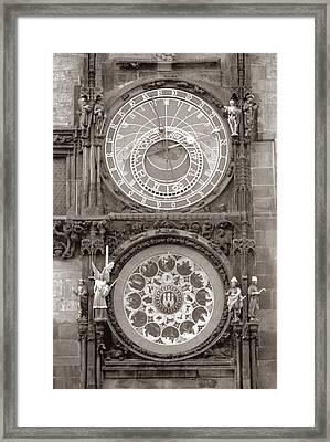Astronomical Clock Prague Framed Print by Tom Wurl