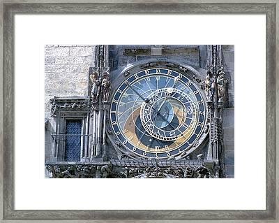 Astronomical Clock, Prague Framed Print by Victor De Schwanberg