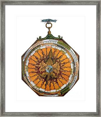 Astronomicum Caesareum With Dragon Framed Print by Photo Researchers