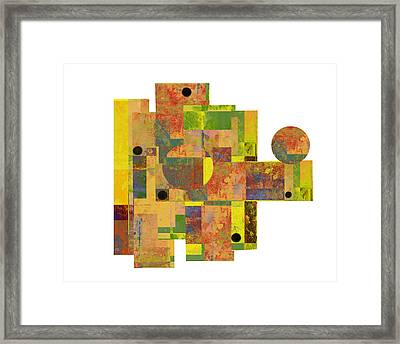 Asymmetry 1 Abstract Art Collage Framed Print