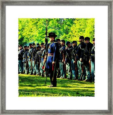At Attention Framed Print by Bill Cannon