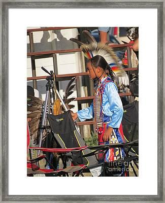 Framed Print featuring the photograph At Blackfeet Pow Wow 03 by Ausra Huntington nee Paulauskaite