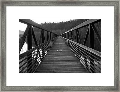 At Bridge Vanishing Point Framed Print by Alan Raasch