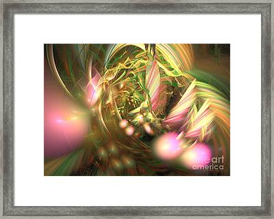 At Dawn - Fractal Art Framed Print by Sipo Liimatainen