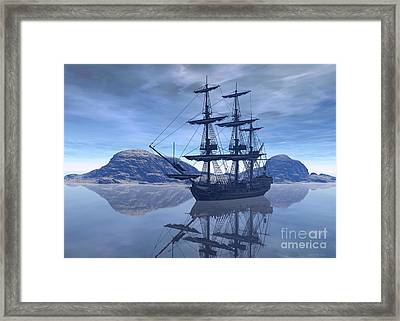 At Destination Framed Print