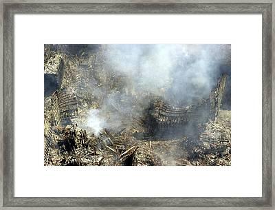 At Ground Zero In New York City Framed Print by Everett