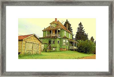 Framed Print featuring the photograph At Home In Ahmeek by MJ Olsen
