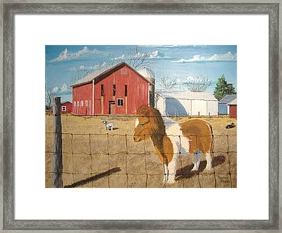 Framed Print featuring the painting At Home by Norm Starks