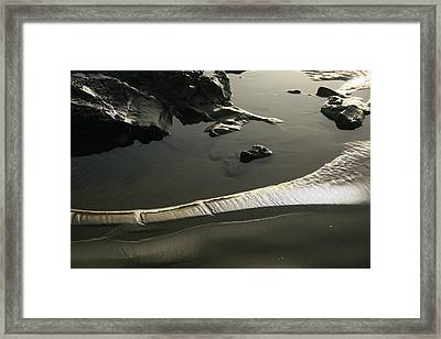 At Hug Point Framed Print